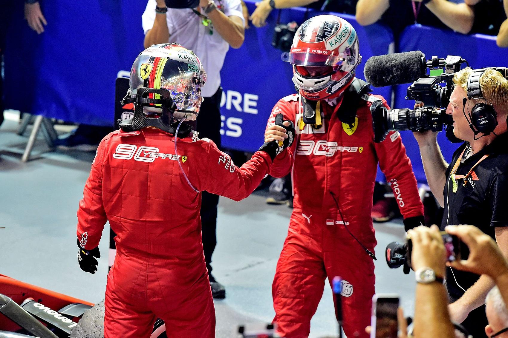 Sebastian Vettel Charles Leclerc