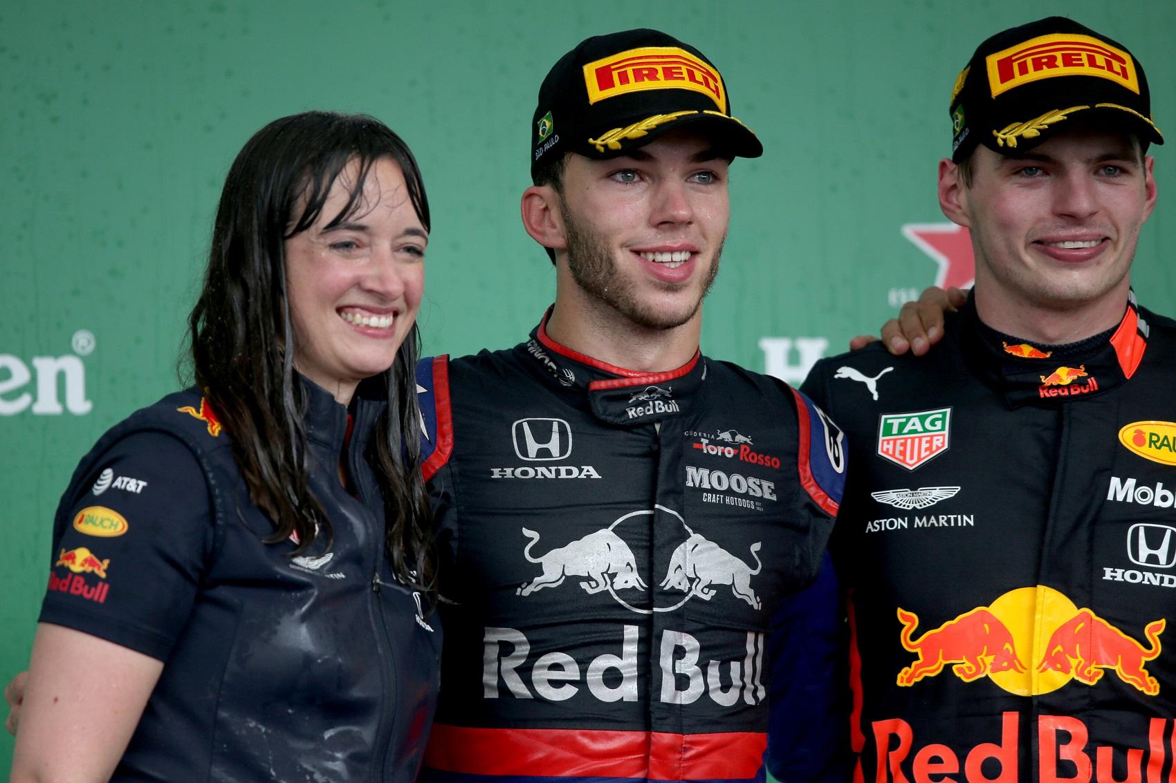Pierre Gasly, Max Verstappen, Hanna