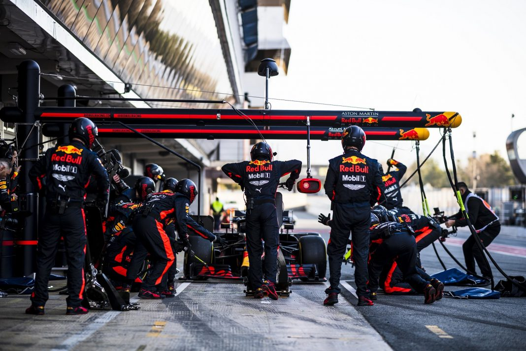 Red Bull Racing pitstop